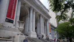 New York City Public Library Establishing Shot Footage