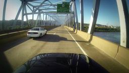 Driving POV Over Bridge 2K Footage