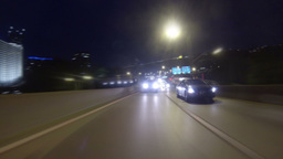 Timelapse Rear POV Driving in Fort Pitt Tunnel 2K Footage