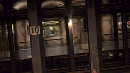 Subway Train Approaches Footage