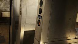 Man Exits Subway Station Footage