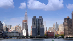 Manhattan Skyline with Empire State Building Footage