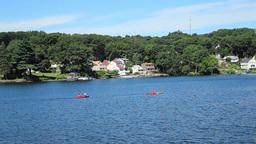 Kayaker on a Lake Footage