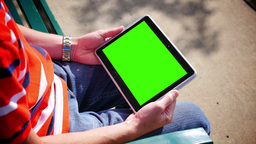 Green Screen Tablet PC 3584 Footage