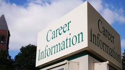 Career Information Sign Timelapse 3586 Footage