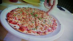 Pizza Pie 3603 stock footage