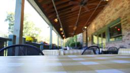Empty Restaurant Patio 3604 Footage