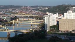 4K Three Sisters Bridges Zoom 3740 Footage