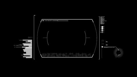 White HUD Infographic Interface Motion Graphic Element Animation