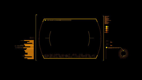 Orange HUD Infographic Interface Motion Graphic Element Animation