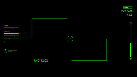 Green HUD Camera Interface Motion Graphic Element Animation