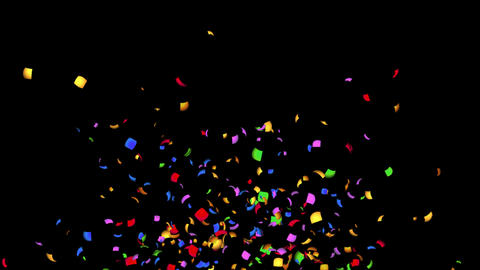 Confetti Clacker 15s falling with alpha channel 4K Animation