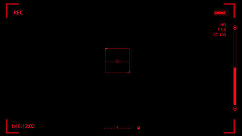 Red HUD Camera Interface Motion Graphic Element V2 Animation