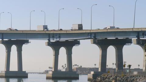 Coronado bridge in San Diego, California Footage