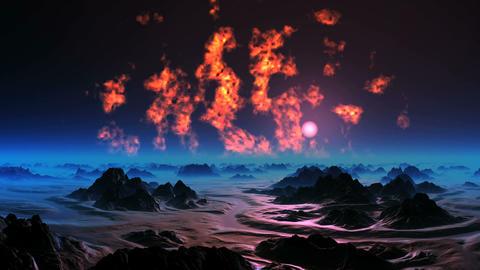 The Burning Sky of Alien Planet Animation