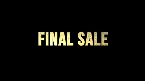 FINAL SALE FOR SHOP DISPLAY CG動画素材