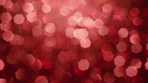 Abstract shiny glitter particles. Abstract background with red shining bokeh Footage