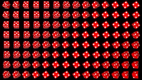 Red dice cubes casino gambling black background Animation