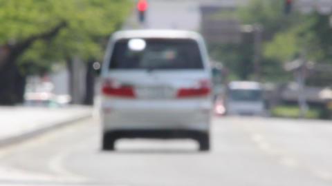 車道 ピントぼかし ビデオ