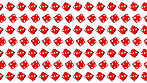 015 Red dice cubes casino gambling white background Animation
