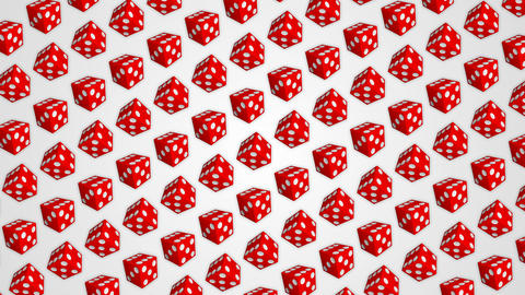 017 Red dice cubes casino gambling white background GIF