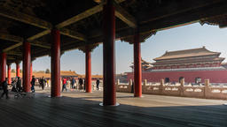 4k timelapse video of Forbidden City in Beijing Footage