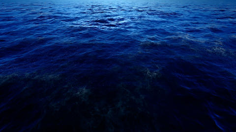 Blue Sea Background Loop CG動画素材