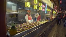 4k video of Wangfujing Snack Street in Beijing 영상물