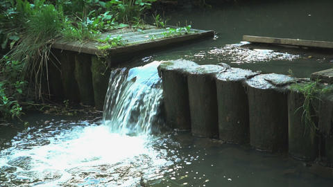 Slow motion C0028 small river Footage