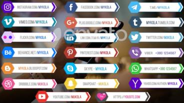 20 social media lower thirds v 2 Plantilla de After Effects