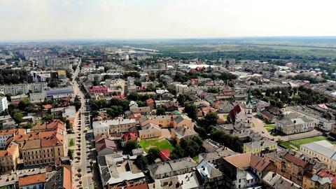 European Town Aerial View (1) Footage