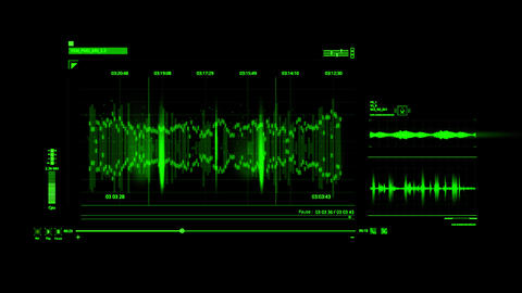 Green HUD Voice Recording Interface Graphic Element Animation