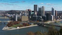 HD Pittsburgh Autumn Skyline 3766 Footage