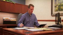4K Businessman with iPad 3780 Footage