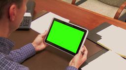 4K Office iPad Green Screen 3781 Footage