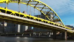 4K Duquesne Bridge Zoom 3800 Footage