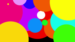 4K Colorful Bubbles Transition 3804 Footage