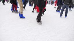 Bryant Park Ice Skaters 3881 Footage