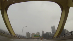Pittsburgh Foggy Morning Driving 3905 Footage