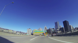 4K Welcome to Pittsburgh Fort Pitt Bridge 3911 Footage