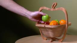 4K Basket of Fruit Get Apple Wide 3934 Footage