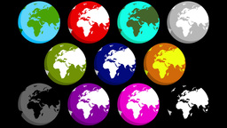 4K Minimalistic Flat Earth Animations 3959 stock footage