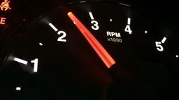 Dashboard RPM Gauge Dial Closeup Footage