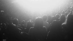 Audience Members at a Concert Black and White 4008 Footage