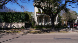 New Orleans Garden District Houses 4063 stock footage