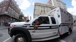 French Quarter Ambulance 4077 Footage