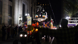 A Float in a Mardi Gras Parade in New Orleans 4110 Footage