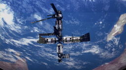 4K Orbiting Space Station NASA Video Feed 4161 stock footage