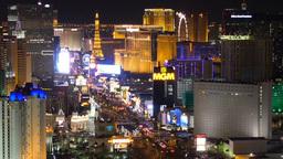 Las Vegas Strip at Night 4186 Footage