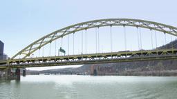 4K Fort Pitt Bridge 4219 Footage